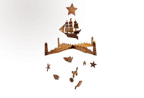 Kreatives Holzdesign Holz Mobile Kinder Erwachsene